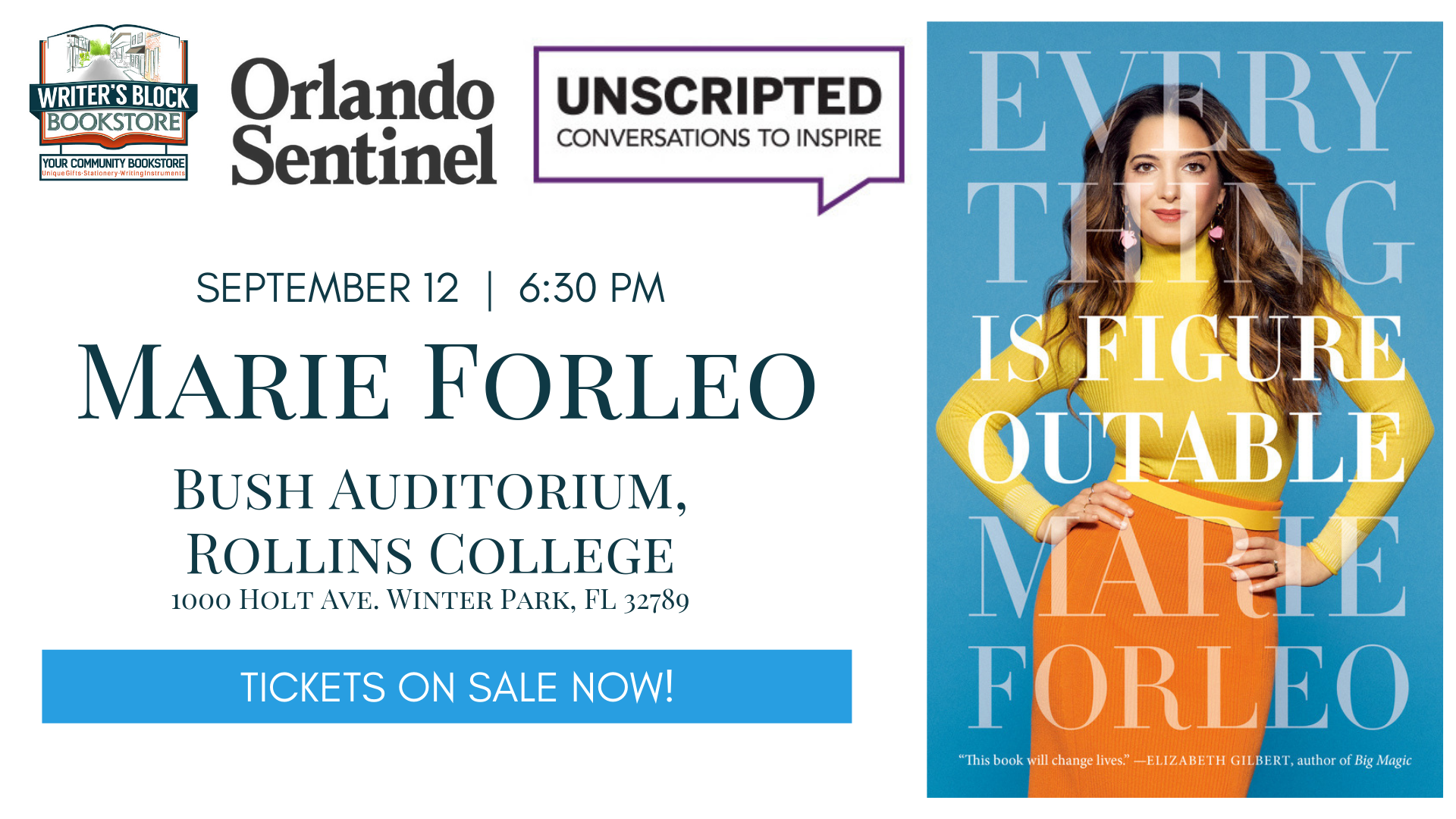 Unscripted Series featuring Marie Forleo at Rollins College